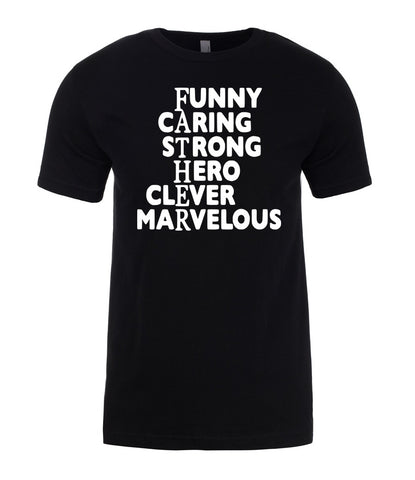 CARING STRONG HERO CLEVER FUNNY FATHER DAY GIFT Mens T-Shirt-Gildan-Daataadirect.co.uk