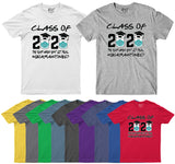 The Year When Sht Got Real Quarantined Class of 2020 Mens T Shirt-Gildan-Daataadirect.co.uk