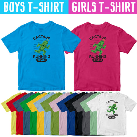 Cactuar Running Team Kids T-Shirt-Gildan-Daataadirect.co.uk