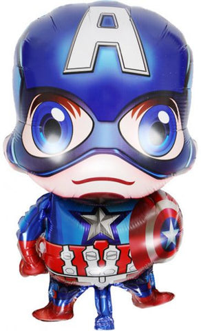 Captain America Cartoon Aluminum Balloon Aluminum Foil Balloon Birthday Decoration-Puppy Kitty Balloons-Daataadirect.co.uk