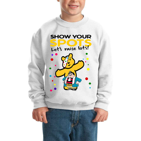 Captain Pugwash Pudsey Bear Spotty Day - Kids SweatShirt-Gildan-Daataadirect.co.uk