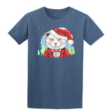 Cat Santa Clause Secret Santa Elf T-shirt-Gildan-Daataadirect.co.uk