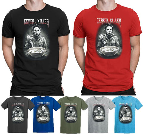 Cereal Killer Michael Myers Halloween Costume Ghost T-shirt-Gildan-Daataadirect.co.uk