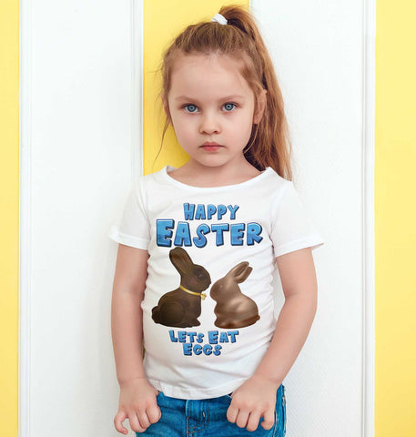 Easter Kids T Shirts Chocolate Bunny Easter Egg Gift Funny Kids Tees-Gildan-Daataadirect.co.uk