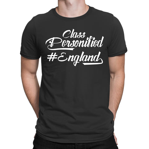 Class Personified England Mens T-Shirt-Gildan-Daataadirect.co.uk
