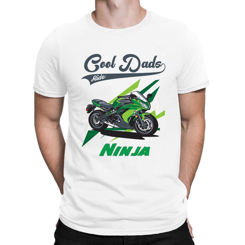 Cool Dads Ride Ninja Mens T-Shirt-Gildan-Daataadirect.co.uk