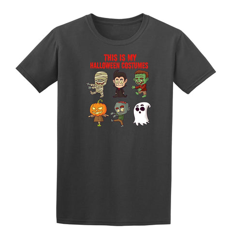Creepy Halloween Costumes Kids T-Shirt Charcoal YXL