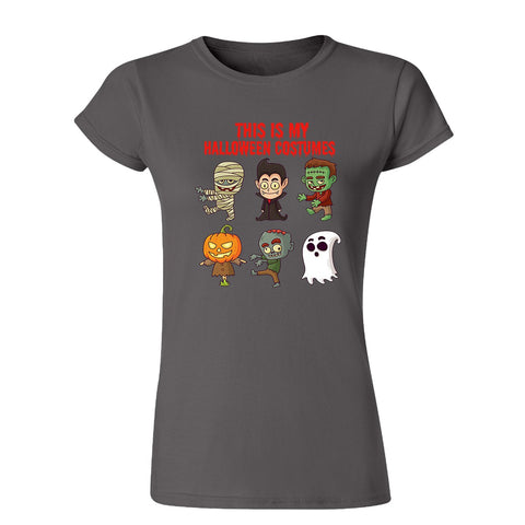 Creepy Halloween Costumes Womens T Shirts-Gildan-Daataadirect.co.uk
