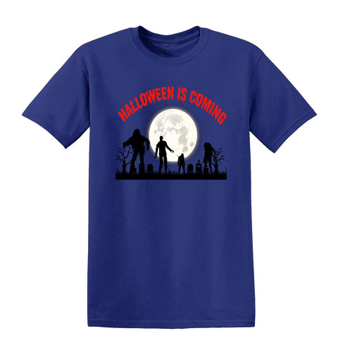 Creepy Moon Halloween is Coming Kids T-Shirt-Gildan-Daataadirect.co.uk