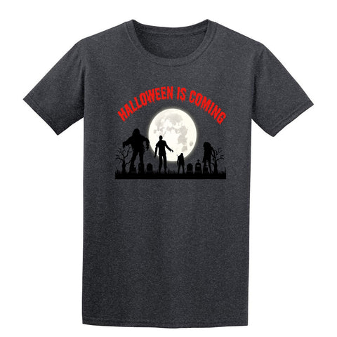 Creepy Moon Halloween is Coming Mens T-Shirt-Gildan-Daataadirect.co.uk