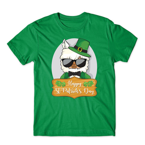 Happy St Patrick day Cute Llama Celtic Irish T-Shirt-Gildan-Daataadirect.co.uk