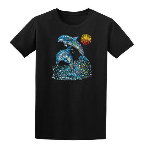 DOLPHINS SEA Mens T-Shirt-Gildan-Daataadirect.co.uk