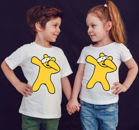 Dabbing Personalised Name Flossing Pudsey Bear T-Shirt-Gildan-Daataadirect.co.uk