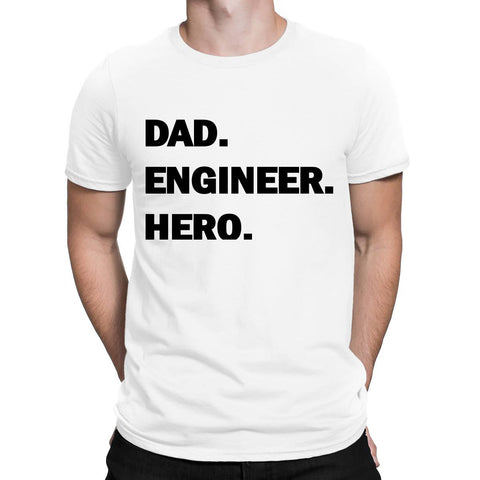 Dad Engineer Hero Mens T Shirts-Gildan-Daataadirect.co.uk