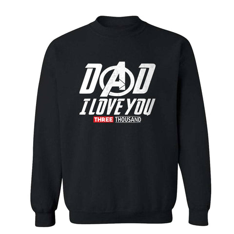 Dad I Love you Three Thousand Mens Sweatshirts-Gildan-Daataadirect.co.uk