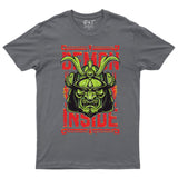 Demon Inside Japnese Samurai Kung Fu Martial Art Men T-shirt-Gildan-Daataadirect.co.uk