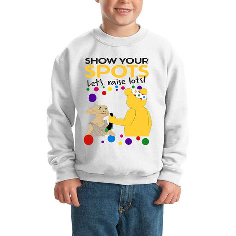 Dobby Pudsey Bear Spotty Day - Kids SweatShirt-Gildan-Daataadirect.co.uk