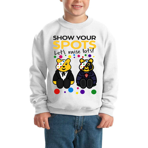 Dr Who Pudsey Bear Spotty Day - Kids SweatShirt-Gildan-Daataadirect.co.uk