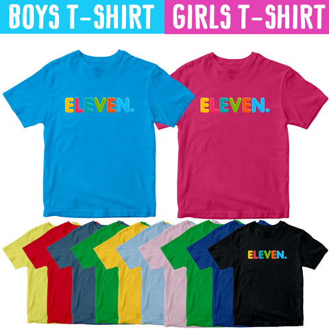 11th Birthday Shirt for Boys Girls 11 Kids Gift Age Eleven Year Birthday T-shirt-Gildan-Daataadirect.co.uk