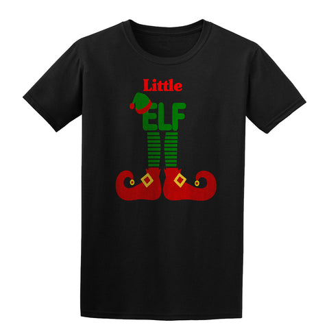 ELF Little Christmas Santa Claus Helper Kids T-Shirt Black YXL