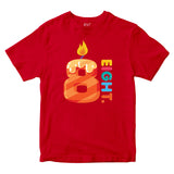 8th Birthday Kids T-shirt Age Eight Years Boys Girls Birthday T-Shirt-Gildan-Daataadirect.co.uk