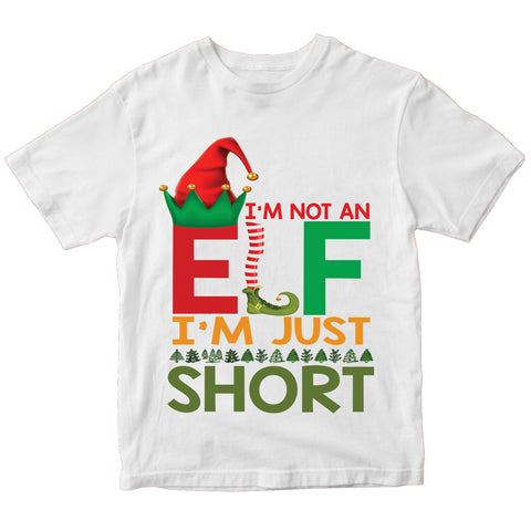 Christmas Elf I'M Just Short T-Shirt-Gildan-Daataadirect.co.uk