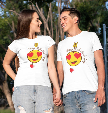 Best Valentines Day 2020 Funny Emoticons Heart Eyes T-Shirt-Gildan-Daataadirect.co.uk