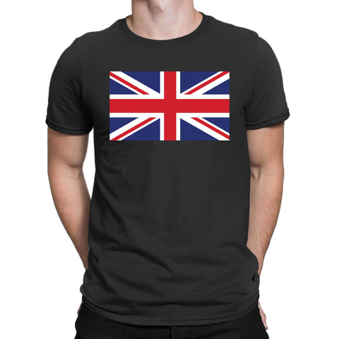 England Flag Logo Mens T Shirts-Gildan-Daataadirect.co.uk