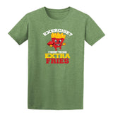 Exercise I Thought You Said Extra Fries T-Shirt-Gildan-Daataadirect.co.uk