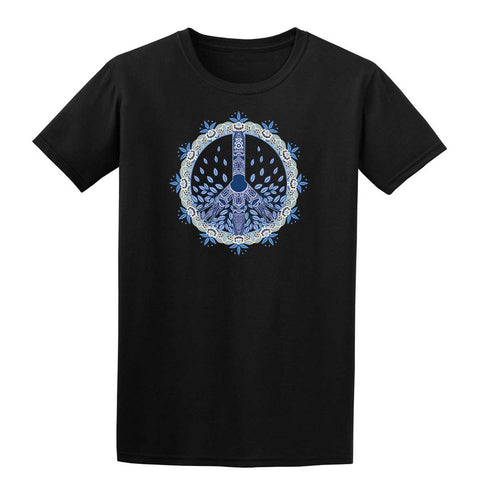 FLOWER PEACE SYMBOL Mens T-Shirt-Gildan-Daataadirect.co.uk