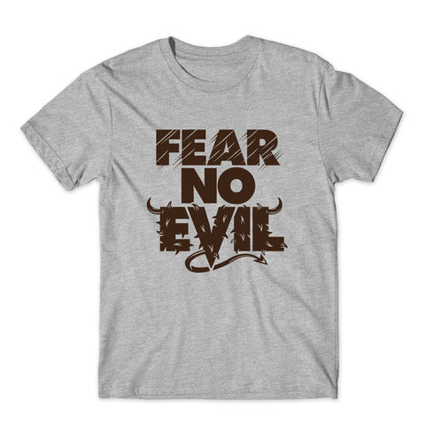 Fear No Evil Logo Demon Devil T-Shirt-Gildan-Daataadirect.co.uk