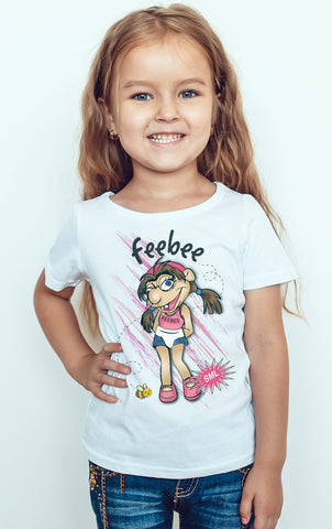 Jeffy Sister Feebee Youtuber Kids T-Shirt-Gildan-Daataadirect.co.uk
