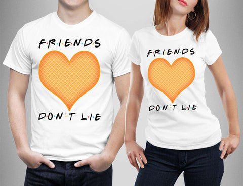 Friends Don't Lie Heart Love Scoop Ahoy T-Shirts-Gildan-Daataadirect.co.uk