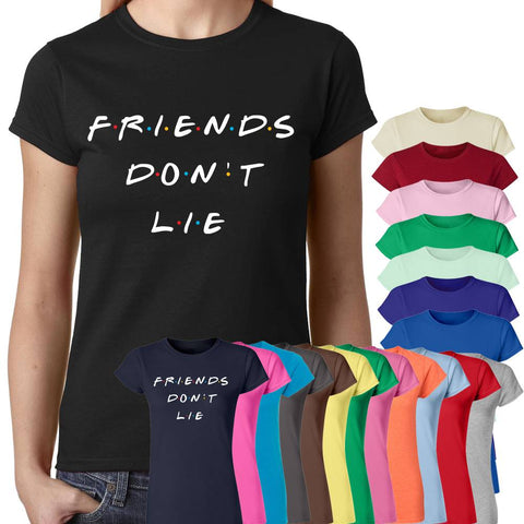 Friends Don't Lie Stranger Things Women T-Shirt-Gildan-Daataadirect.co.uk