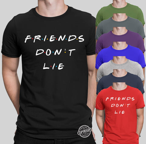 Friends Don't Lie Stranger Things Men T-Shirt-Gildan-Daataadirect.co.uk