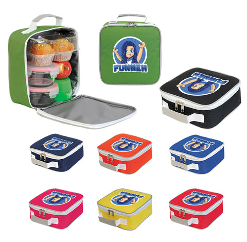 Funneh Logo Sandwich Lunchbox Bag Gaming YouTuber Cartoon Girl Cooler Bag Gift-Shugon-Daataadirect.co.uk