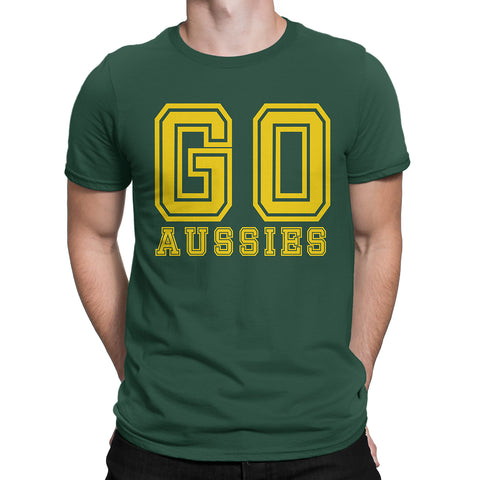 Cricket Wold Cup Go Ausses Go Australia Mens T Shirt-Gildan-Daataadirect.co.uk