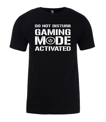 Gaming Mode Activated Do Not Distrub Gift Funny Mens T-Shirt-Gildan-Daataadirect.co.uk