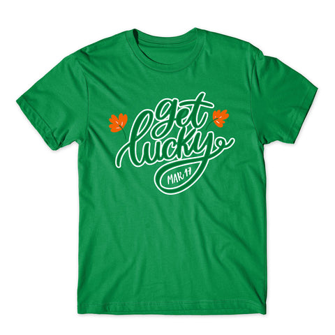 Get Lucky St Patrick Day Funny Holiday March 2020 T-Shirt-Gildan-Daataadirect.co.uk