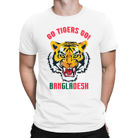 Cricket World Cup Go Tigers Go Bangladesh Mens T-Shirt-Gildan-Daataadirect.co.uk