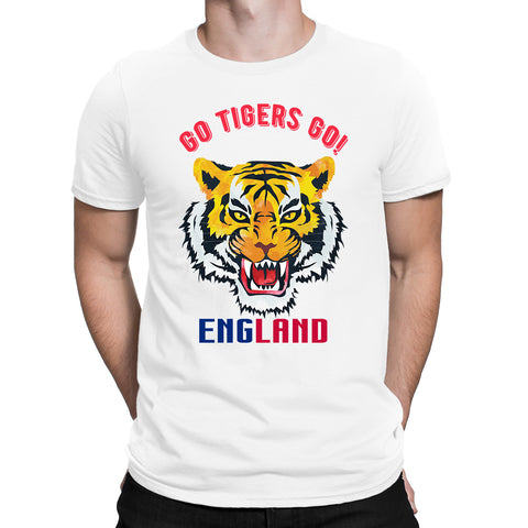 Cricket World Cup Go Tigers Go England Mens T-Shirt-Gildan-Daataadirect.co.uk
