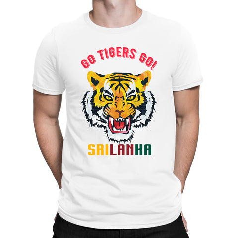 Cricket World Cup Go Tigers Go Srilanka Mens T-Shirt-Gildan-Daataadirect.co.uk