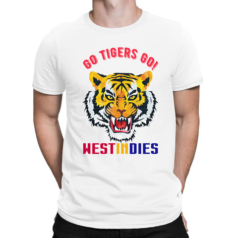 Cricket World Cup Go Tigers Go WESTINDIES Mens T-Shirt-Gildan-Daataadirect.co.uk