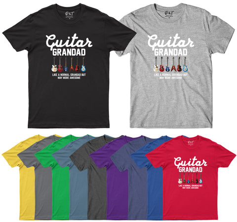 Guitar Grandad Awesome Mens T Shirt Guitarist Birthday Fathers DayT-Shirt-Gildan-Daataadirect.co.uk
