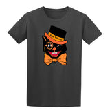 Halloween Cat Skull Mens T-Shirt-Gildan-Daataadirect.co.uk