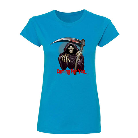 Halloween Coming for you Scary Womens T Shirts