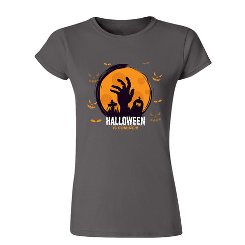 Halloween is coming Womens T Shirts-Gildan-Daataadirect.co.uk