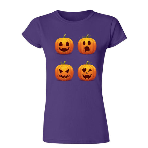 Halloween pumpkins Womens T Shirts-Gildan-Daataadirect.co.uk