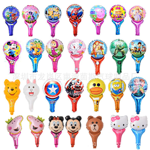 "10"" Push Balloons Micro Business Hand Held Sticks Cartoon Aluminum Balloons-Puppy Kitty Balloons-Daataadirect.co.uk"