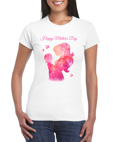 Lovely Greeting Relationship Happy Mother's Day Women T-Shirt-Gildan-Daataadirect.co.uk